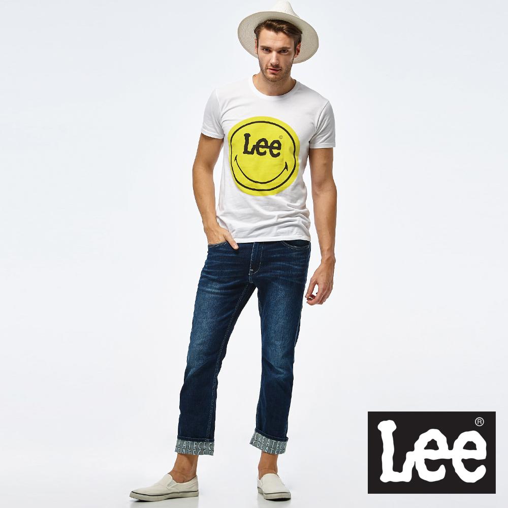 Lee Lee X Smily 聯名短袖圓領TEE/Smiley-男款-白