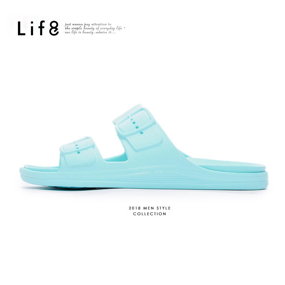 【Life8】Casual 經典款 百搭拖鞋-09861-水藍