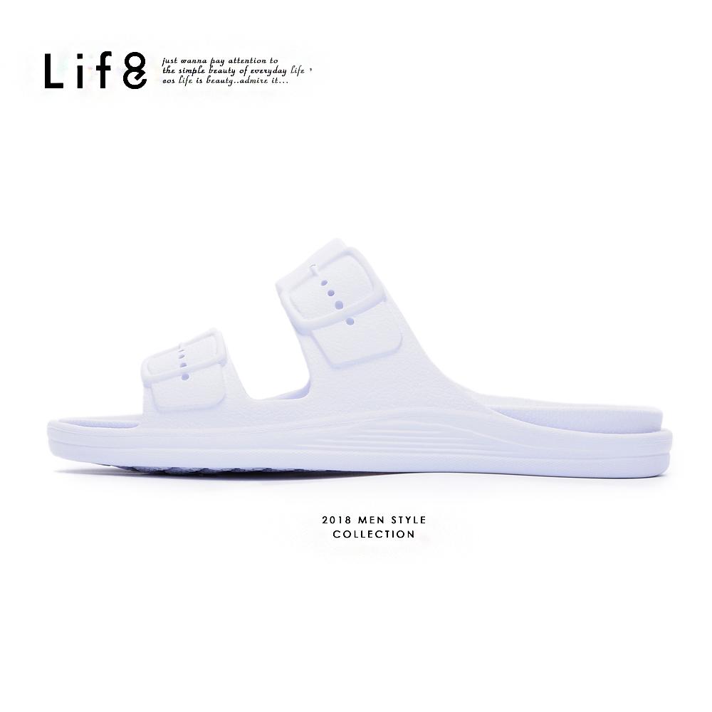 【Life8】Casual 經典款 百搭拖鞋-09861-白色