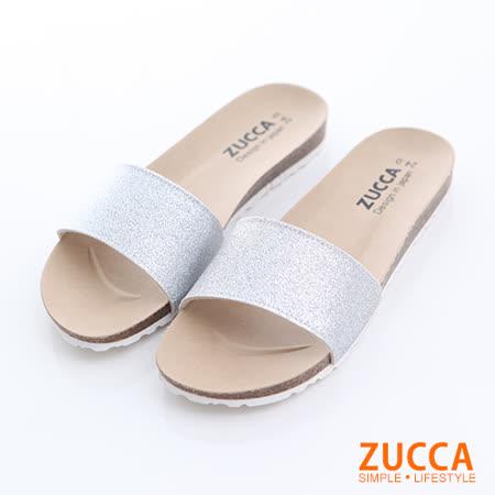 ZUCCA 彩碎亮片平底拖鞋