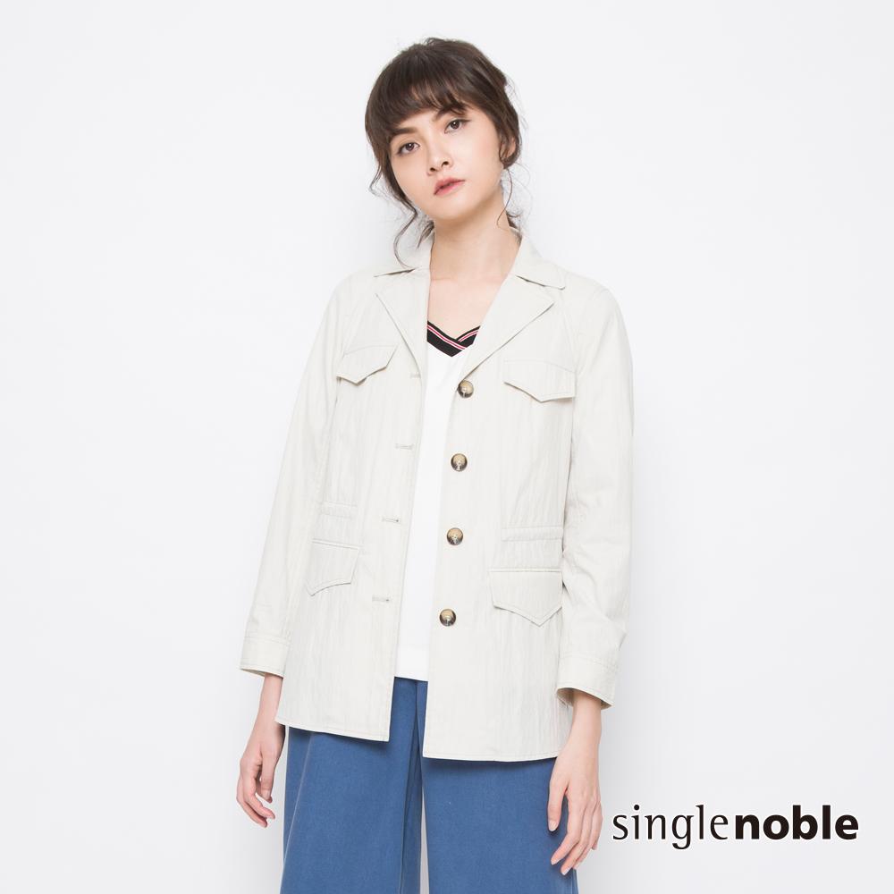 獨身貴族 城市午後口袋休閒西裝外套(2色)