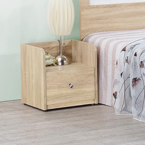 AS-愛麗耐磨橡木床頭櫃-43.6x39.9x45.1cm