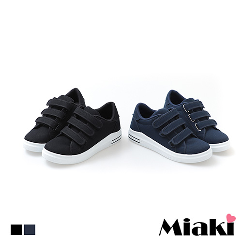 【Miaki】休閒鞋.MIT 韓風魔鬼粘厚底包鞋 (藍色 / 黑色)