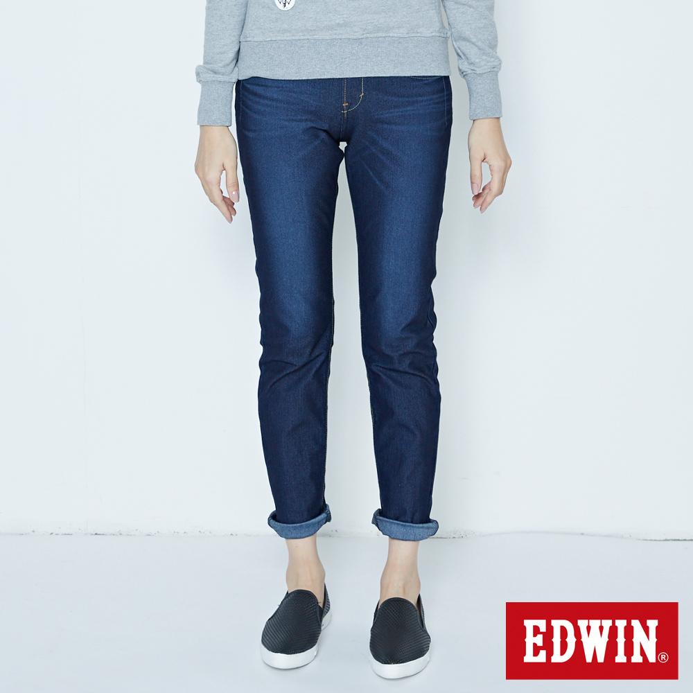 EDWIN JERSEYS 迦績 袋褶窄直筒褲-女款 原藍磨