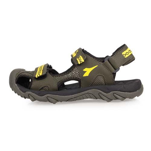 (童) DIADORA 男大運動涼鞋-拖鞋 休閒涼鞋 海邊 海灘 戲水 護趾 軍綠芥末黃