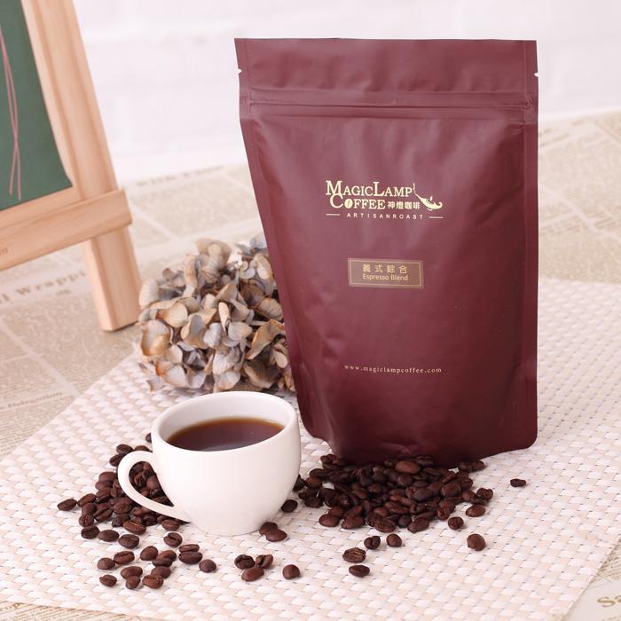 神燈咖啡-義式綜合 Espresso Blend 咖啡豆(半磅裝)-5 袋組