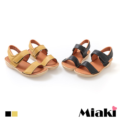 【Miaki】涼鞋.MIT 韓式百搭平底休閒鞋 (梨色 / 黑色)