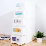 【MR.BOX】日系純白五層收納櫃(面板圖案可換)-87.5L