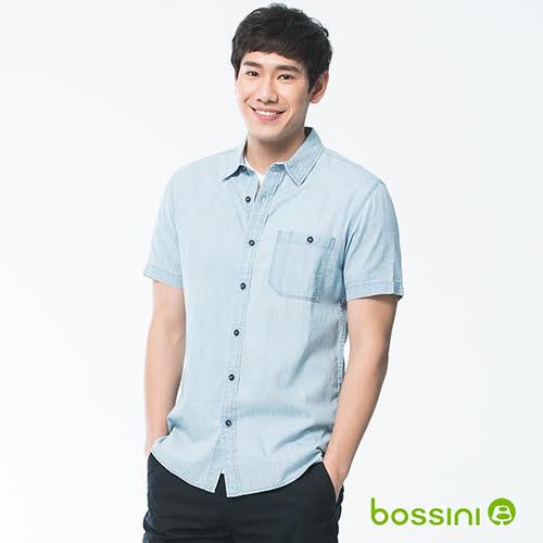 bossini男裝-牛仔短袖襯衫