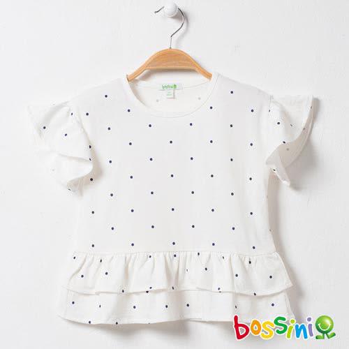 bossini女童-圓領短袖上衣