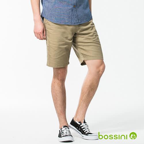 bossini男裝-休閒棉麻短褲