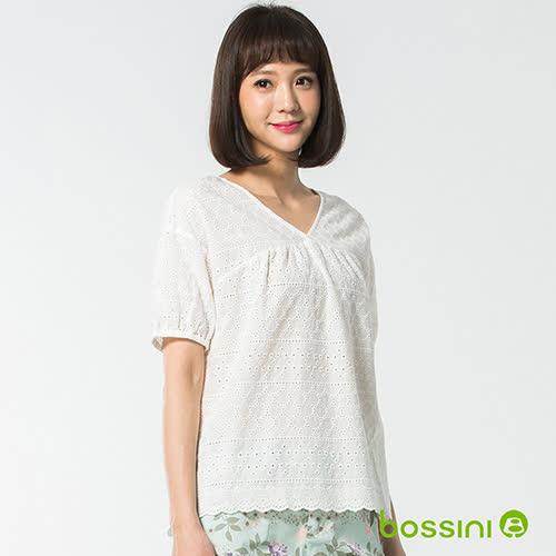 bossini女裝-短袖造型襯衫