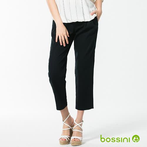 bossini女裝-休閒打摺棉麻長褲