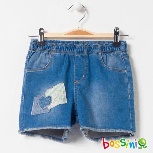 bossini女童-牛仔休閒短褲