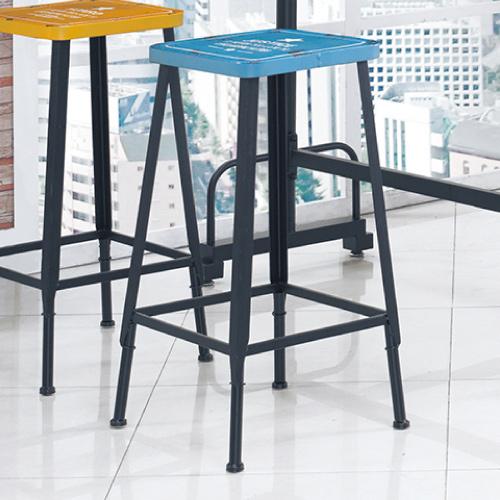 AS-西亞工業風吧台椅(藍)-33.5x33.5x76cm