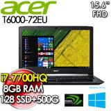 ACER 宏碁 T6000-72EU 15.6FHD/I7-7700HQ/8G/GTX-1050-2G/128SSD+500G 商務效能筆電