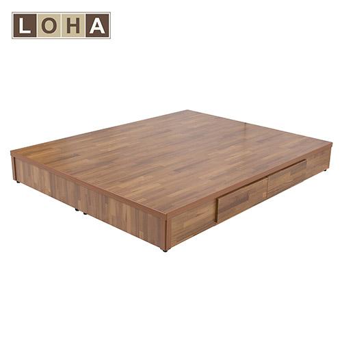 【LOHA】5尺雙人四抽床底(木心板)/柚木色