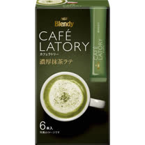 AGF Blendy CAFÉ LATORY濃厚抹茶拿鐵(綠) 13Gx6P
