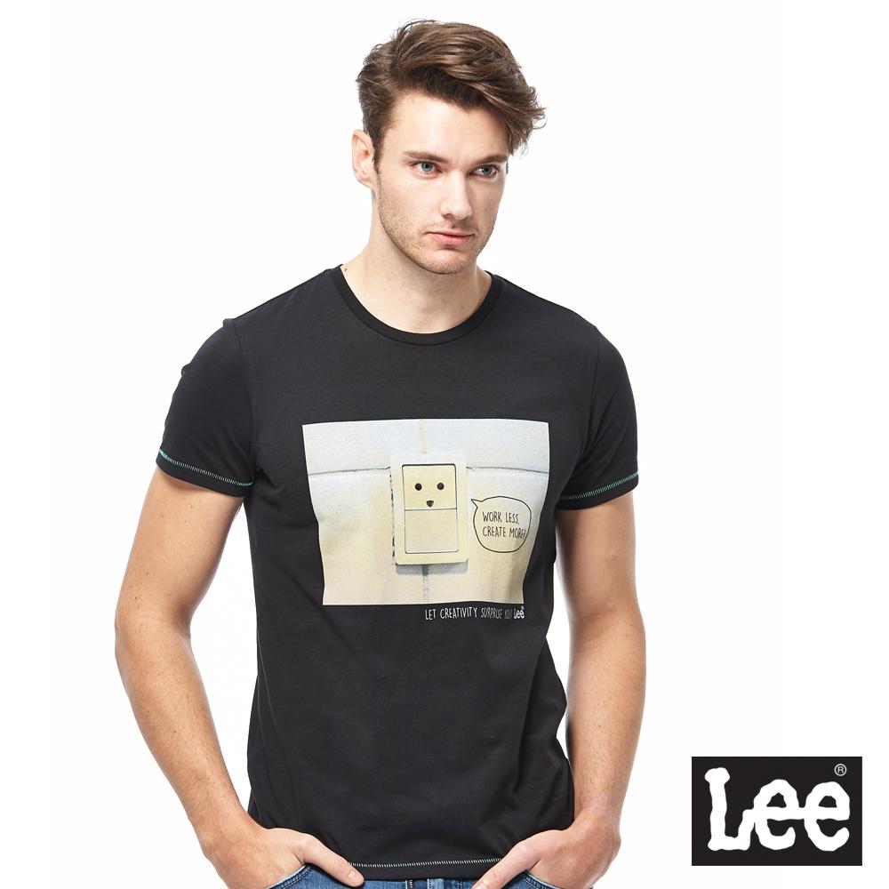 Lee 表情符號短袖圓領TEE-男款-黑