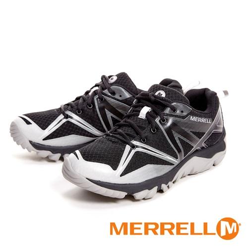 MERRELL MQM EDGE GORE-TEX®多功能防水透氣登山健行鞋 男鞋-銀灰黑