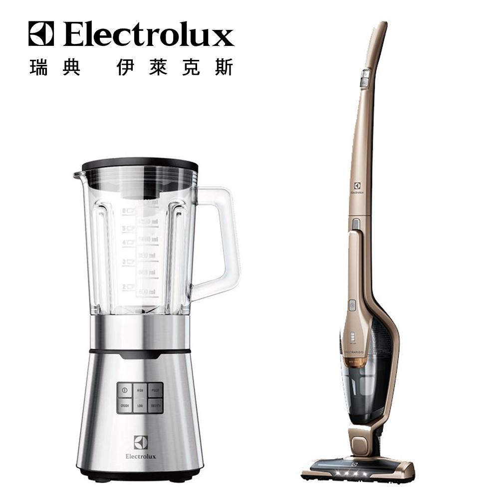 【Electrolux 伊萊克斯】超級完美管家吸塵器-HEPA除蹣版(ZB3324B)+設計家系列冰沙果汁機