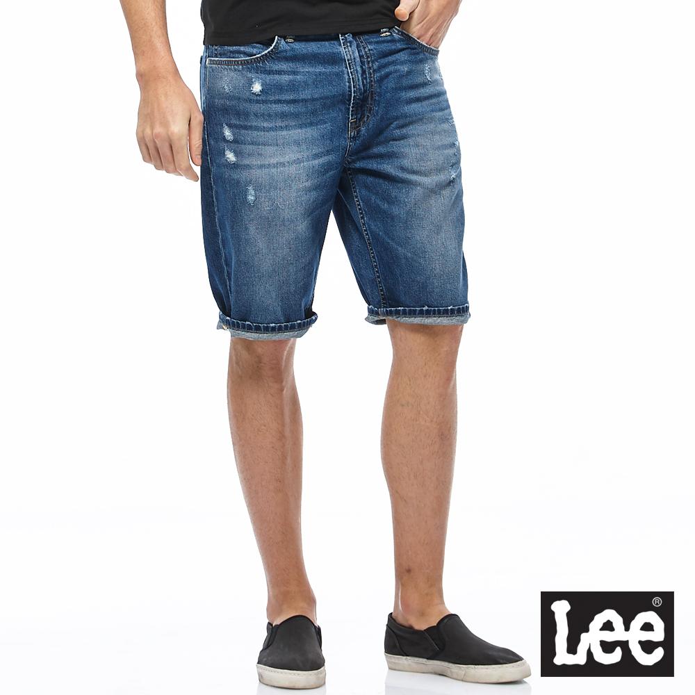 Lee 牛仔短褲-男款-深藍