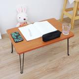 環球 (折合腳)折疊桌/野餐便利桌/摺疊桌/和室桌/休閒桌-寬60x長40x高30/公分(楓葉紅木色)