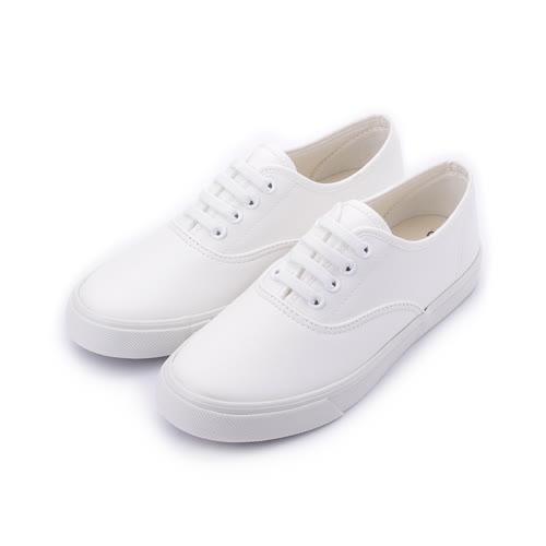 T-EGO 素面鬆緊套式休閒鞋 白 女鞋 鞋全家福