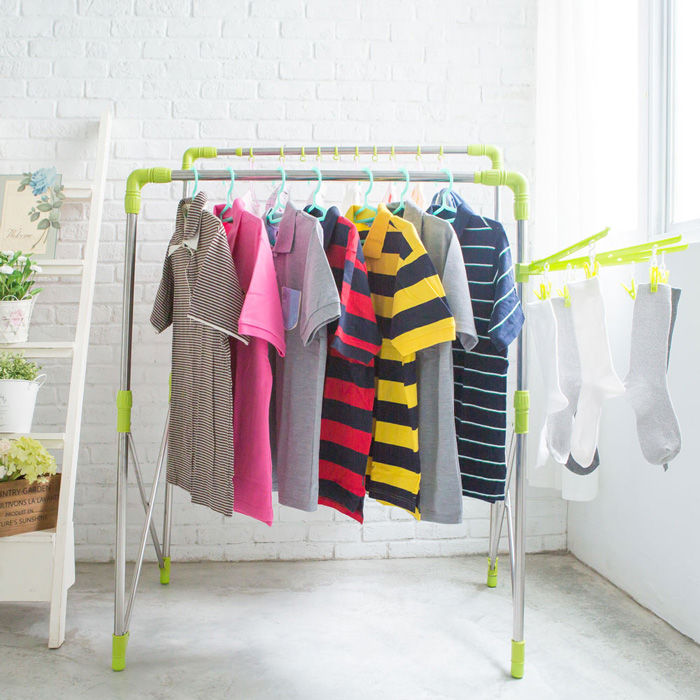 加贈16件贈品組 可升高不銹鋼曬衣架