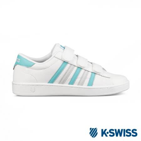 K-swiss Hoke III Strap CMF休閒運動鞋-女-白/藍綠/灰