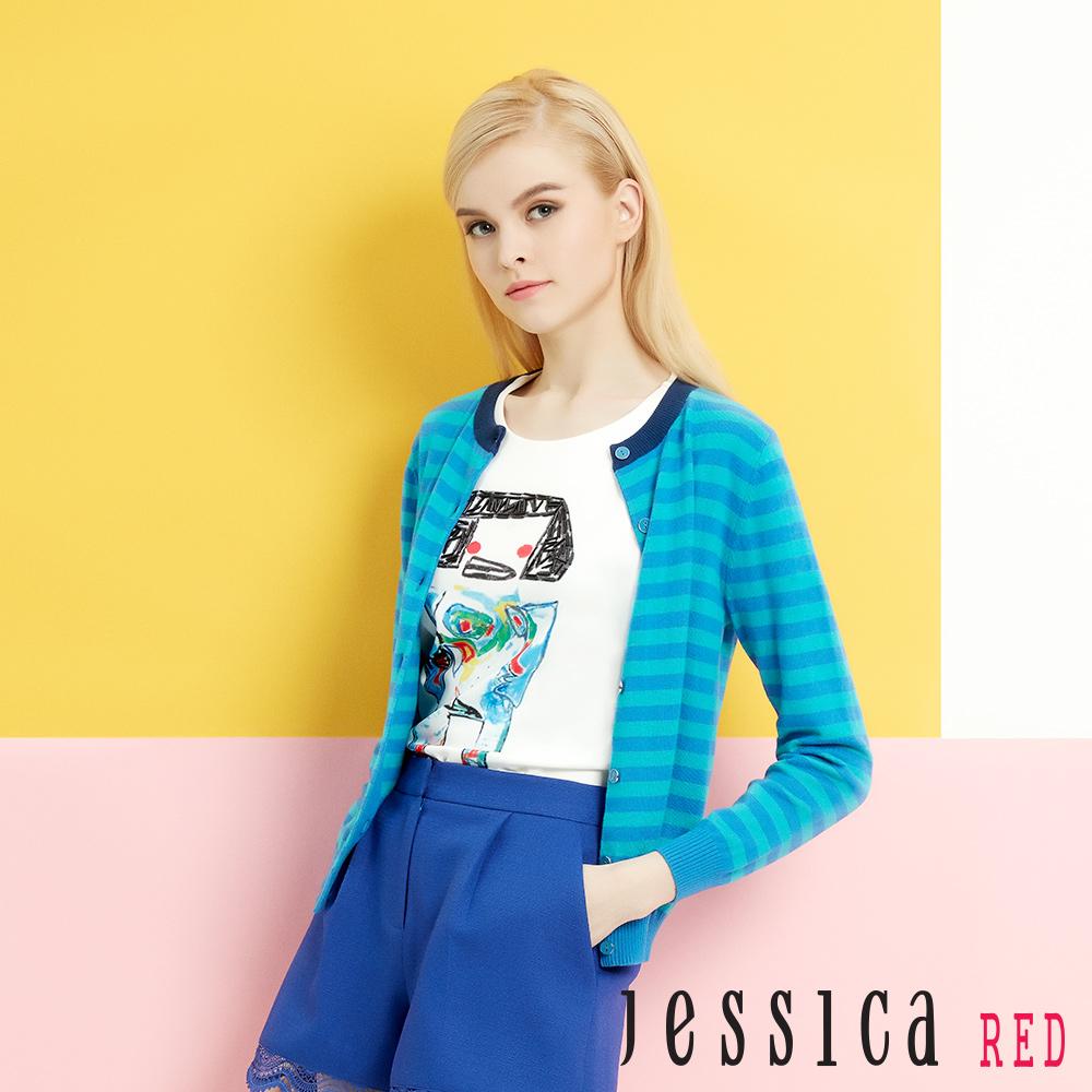 JESSICA RED - 亮片塗鴨人偶T-shirt上衣