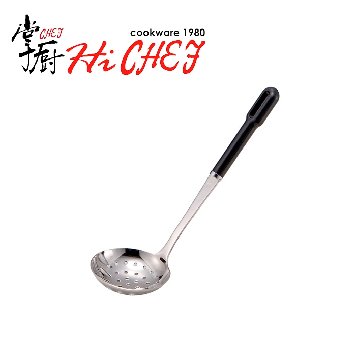 《掌廚HiCHEF》不鏽鋼洞杓 日本製 23.5cm (HL-31)