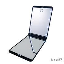 【Ms.elec米嬉樂】-LED觸控口袋化妝鏡 - 黑