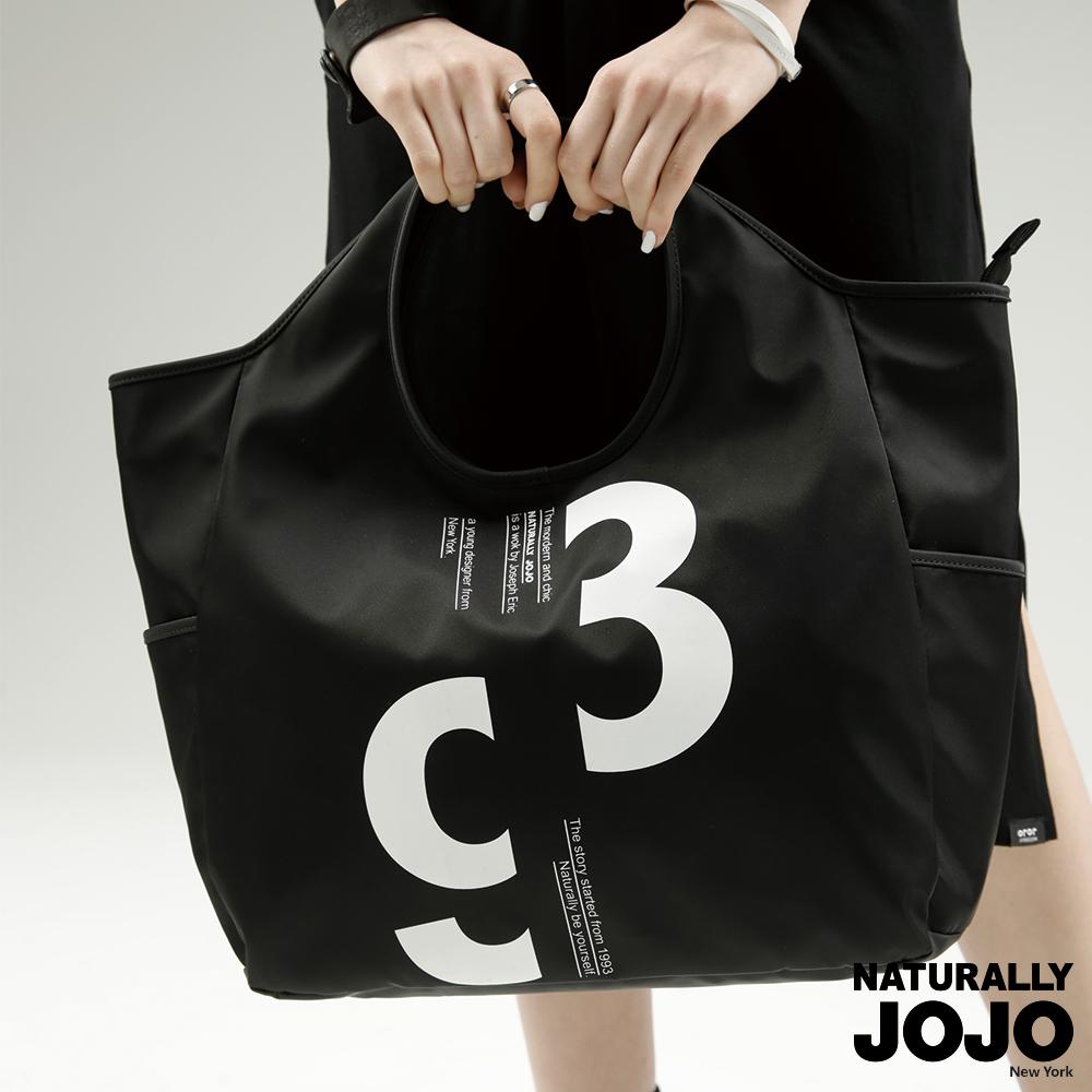 【NATURALLY JOJO】原創印圖大容量萬用包 (黑)
