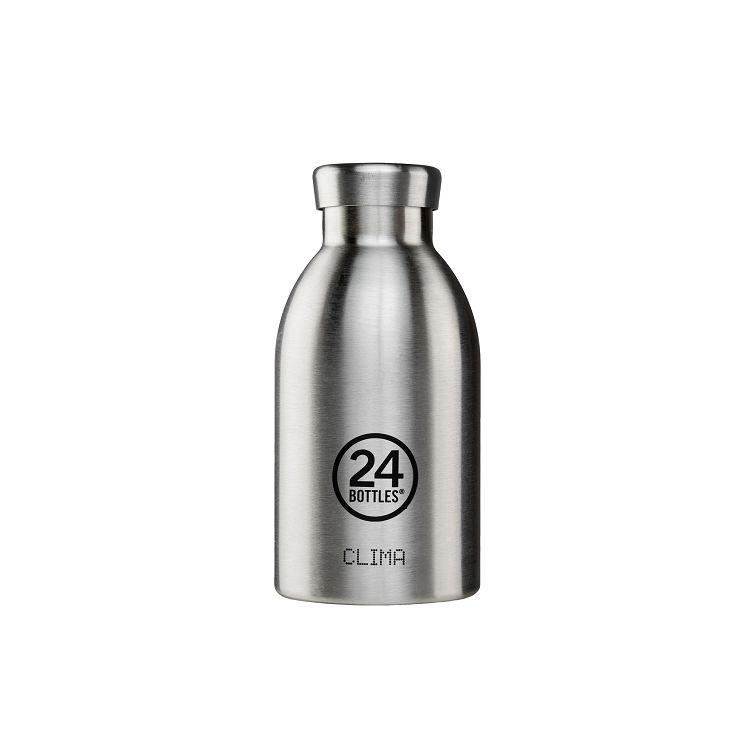 義大利 24Bottles 不鏽鋼雙層保溫瓶 330ml - 不鏽鋼
