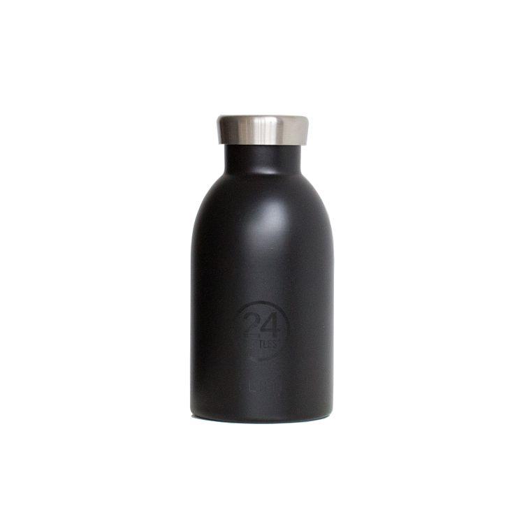 義大利 24Bottles 不鏽鋼雙層保溫瓶 330ml - 紳士黑