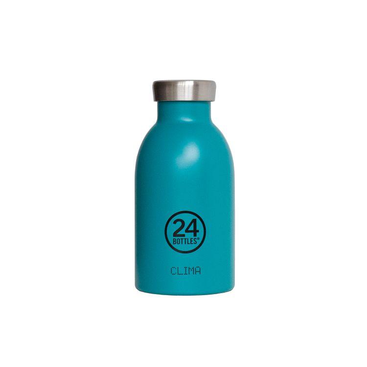 義大利 24Bottles 不鏽鋼雙層保溫瓶 330ml - 海灣藍