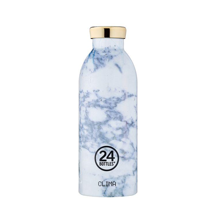 義大利 24Bottles 不鏽鋼雙層保溫瓶 500ml - 藍紋大理石