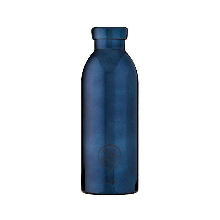 義大利 24Bottles 不鏽鋼雙層保溫瓶 500ml - 黑金