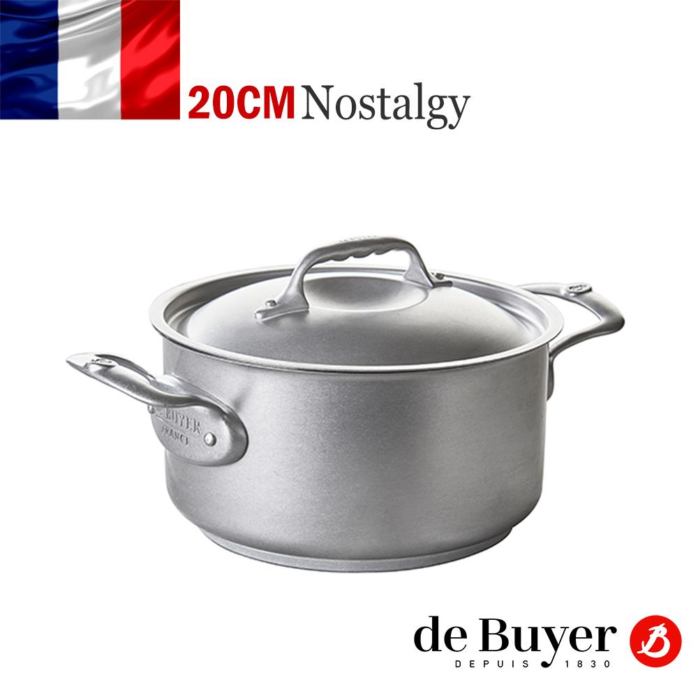 法國【de Buyer 】畢耶鍋具『Nostalgy復刻系列』古董雙耳不鏽鋼湯鍋20cm