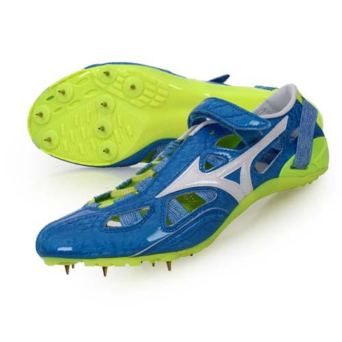 (男) MIZUNO CHRONO INX 9 日製田徑釘鞋-競賽 短距離 美津濃 藍白螢光綠 24