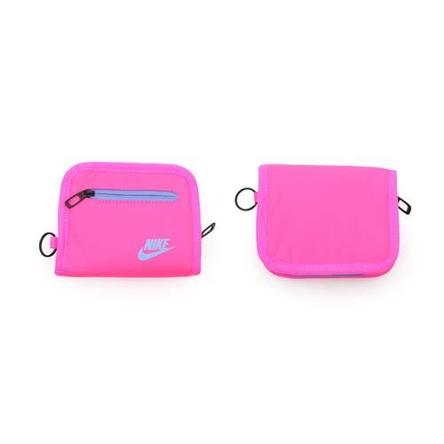 NIKE 零錢包-手拿包 收納包 錢袋 皮夾 螢光粉紫 F
