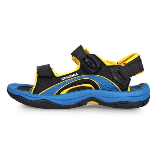 (童) DIADORA 男女大運動涼鞋-拖鞋 戲水 海邊 海灘 溯溪 黑黃藍