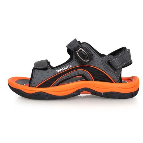 (童) DIADORA 男女大運動涼鞋-拖鞋 戲水 海邊 海灘 溯溪 灰橘白