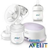 PHILIPS AVENT 輕乳感PP標準型單邊電動吸乳器+親乳感PP奶瓶125ml(單入)超值組