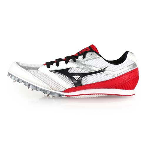 (男女) MIZUNO TMC SPLIT 3 田徑釘鞋-美津濃 中長距離 競賽 訓練 白黑紅 28.5
