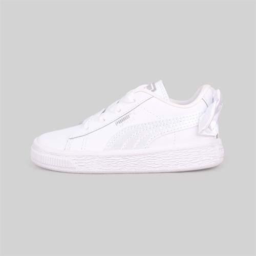 (童) PUMA BASKET BOW AC LNF 女兒休閒運動鞋-蝴蝶結款-慢跑 白