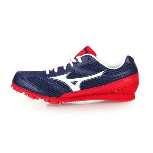 (男女) MIZUNO TMC SPLIT 3 田徑釘鞋-中長跑 競賽 美津濃 丈青紅白 25