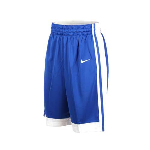 (男) NIKE 籃球針織短褲-路跑 慢跑 訓練 五分褲 藍白