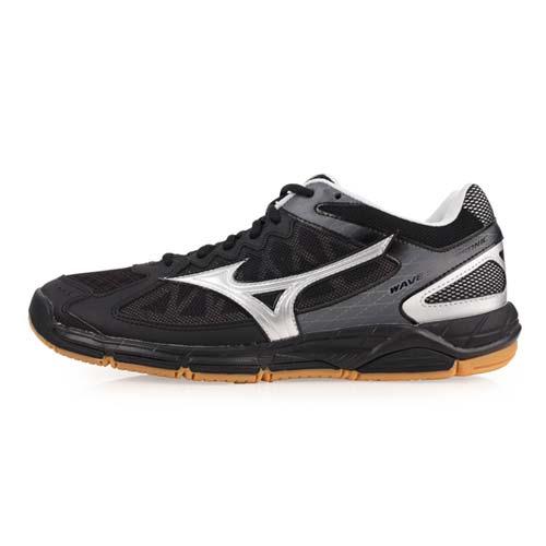 (男) MIZUNO WAVE SUPERSONIC 排球鞋-排球 美津濃 黑銀
